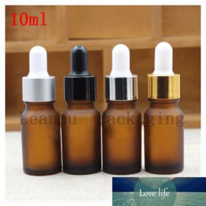 10ml Brown Frosted Glass Essential oil Bottle Head Glue Dropper Packing Dilution Empty Bottles,Cosmetic Dropper Packing Bottle