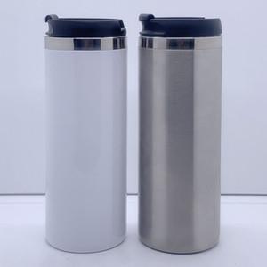 14 che leere Sublimation Gerade Becher Hitze Tansfer Kaffeetassen Doppelwand Edelstahl Vakuumflack Bier Tassen VT1775