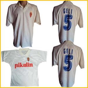 1994 1995 Real Zaragoza Retro Soccer Jersey 94 95 Poyet Pardeza Nayim Higuera Vintage Classic Football Shirt