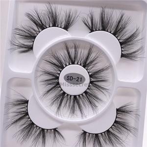 New 3 Pairs Natural False Eyelashes Fake Lashes Long Makeup Faux 3d Mink Eyelashes Eyelash Extension Fake Mink Lashes For Beauty