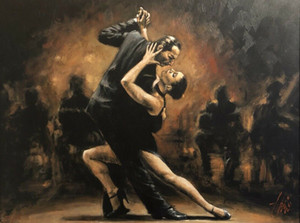 Tango II Oversize Home Decoration Handpainted &HD Print Oil Painting On Canvas Wall Art Canvas Pictures 210104