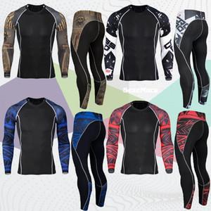SexeMara Fitness Running Shirt of Man Rashguard Long Sleeve Johns sports suit Crossfit Bodybuilding gym Men's sportswear