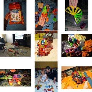 Kacuu 190pcs Mini Magnetic Designer Blöcke Modellbau Spielzeug aus Kunststoff Magnent Spielzeug Constructor Lernspielzeug für Kinder Geschenk bbyRNC