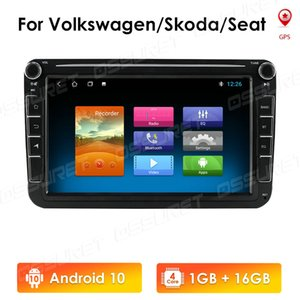 8 Inch Quad Core Android 10 Double Din Car GPS Navigation Autoradio Player for VW Jetta Polo Golf Passat Leon NON DVD