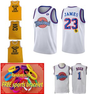 new men Top Movie Space Jam Tune Squad Jersey 23 Michael 1 Bugs Bunny 10 Lola 13 Tweety 22 Murray Basketball Jerseys Black White