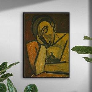 Pablo Picasso Reposo Pintura Arte moderno de la pared de la lon Poster pintura del cuadro Imprimir Home Living Room Decor