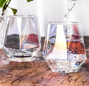 Geometry Hexagon Water Cups Glass Coffee Wine Drinks Smooth Mug Bar Cold Drink Recyclable Tumbers Personality Hot Sale 6sm F2