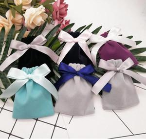 쥬얼리 flannelette 가방 Drawstring 가방 포장 상자 보석 가방 웨딩 선물 장식품 상자 웨딩 파티 웨딩 용품 WMQ402