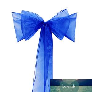 50pcs pieces royal blue Organza Chair Sashes Bow Cover Banquet Free Shipping