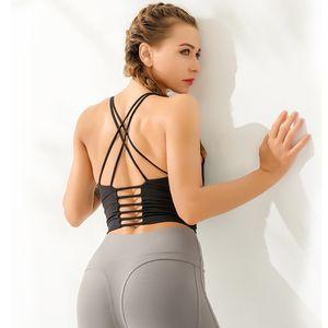 Sports underwear bra women's sexy high-end shorts women's back cross Yoga shirt sports Yoga high-end dry women's sports vest shirt