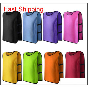 Sports Accessories Team Training Scrimmage Vests Soccer Basketball Youth Adult Pinnies Jerseys New Te9Tv