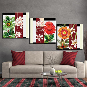 3 Piece Painting On Canvas Still Life Flower Posters And Prints Wall Pictures For Living Room Home Decor