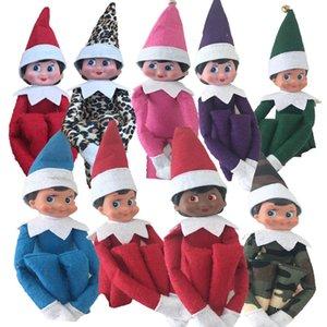 2020 Elf Plüschtiere Elfen 10 Weihnachtspuppenkleidung auf dem Regal für Weihnachtsgeschenke Dekoration Figur Hauptdekorationen Großhandel Giftin