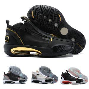 2021 New Jumpman 34 SE 모든 스타 파리 블랙 레드 백인 남성 농구 신발 34S 트레이너 낮은 파삭 파삭 한 Guo Ailun Heritage 크리스마스 PE