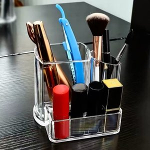 Exquisite and transparent acrylic Eyebrow Brush Cosmetic desktop storage box to create exclusive direct sales of make-up table manufacturers