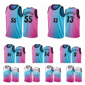 Hombres personalizados Mujeres Juventud Kis 14 Duncan Robinson 13 Tyler Herro 55 bam Adebayo Jimmy Butler Blue Pick City Vice Basketball Jersey