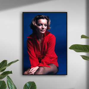 Modern Art Poster Romy Schneider Poster Painting Printed on Canvas Home Decor Wall Art Pictures for Living Room