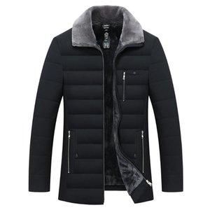 2021 winterjacke männer pelz kragen windbreaker baumwolle gepolsterte dicke warme jacken und männchen männlich casual fleece jacken männer kleidung