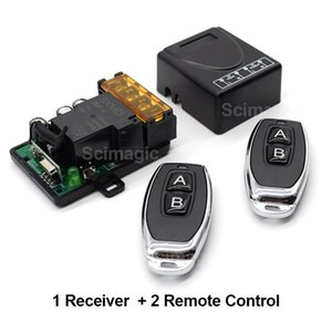 433MHz Wireless Remote Control Switch AC220V 1 Channel Relay Receiver Module and 433 Mhz Remotes for Garage and Gate