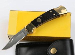 Ebony New Tactical AUTO Leather Folding EDC 440C Satin Blade Knife Sheath Knife Knives Pocket With Gift Handle 112 1Pcs Fklcm