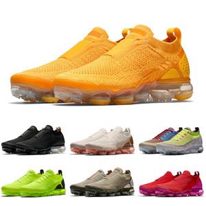nike air vapormax flyknit 2021 جديد وصول FLY KNIT FK الرياضة رجل إمرأة احذية الجري Moc 2.0 وسادة جامعة الذهب فولت ثلاثية الأسود أحذية رياضية المدربين 36-45