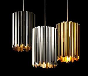Italy Modern Designer Pendant Light Gold Chrome Black Stainless Steel Pendant Lamp Bar Restaurant Bedroom Alloy Hanging Lamp