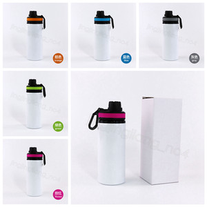 600ml Heat transfer cup handle cover water bottle sport water bottle blank outdoor Mountain Thermal transfer water cup sea shipping CYF4587