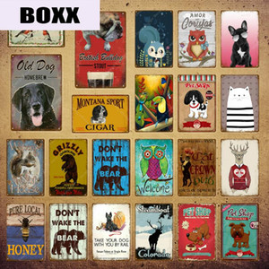 Pet Shop Nut House Art Print Animals Poster Dog Metal Signs Wall Sticker Nordic Plaque Bar Pub Kids Room Home Decor YI-149