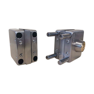 Pure steel quality glass door lock square double open glass door lock pick suitable for 12mm thick tempered glass locksmith tools