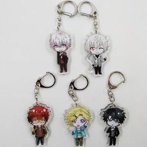 5 Styles Acrylic Keychain Anime Mystic Messenger Characters Figure Pendants Doll Metal Keychain Japanese Anime Cartoon