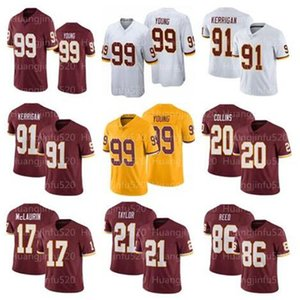 99 Chase Young 21 Sean Taylor Jerseys 17 Terry McLaurin 7 Dwayne Haskins 20 Landon Collins 91 Ryan Kerrigan 86