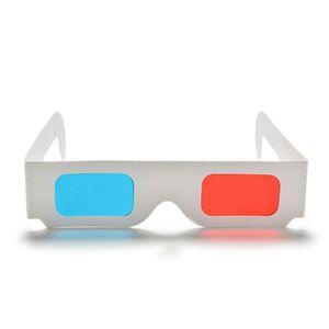 DishyKooker 10 Pcs Universal Paper 3D Glasses Ver Anaglyph vermelho / azul óculos 3D para vídeo filme