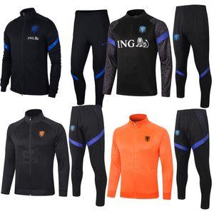 Netherlands tracksuit soccer jacket sweatsuit Maillot De Foot jersey UIRGIL mens tracksuit 2020 new designers tracksuits mens wjpbb