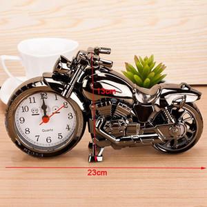 دراجة نارية إنذار الساعات الديكور المنزلي المنبه سوبر كول دراجة نارية نموذج إنذار ساعات عطلة الإبداعية الرجعية هدية ديكور DBC DH0730