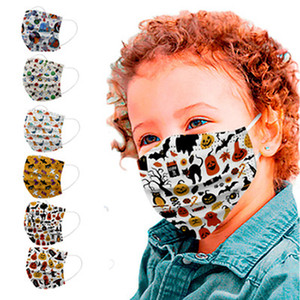 Kids Face Mask Cartoon Printed Disposable Face Mask Mouth Cover Cute Carton Printing Personality Designer Masks IIA847