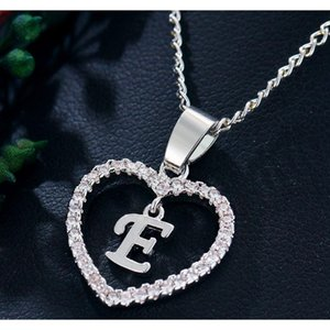 Hot Silver Plated Letter Y Necklace 26 Letters Zircon Love Necklace Jewelry Love Pendant 18 Inches C bbyCFw nana_shop