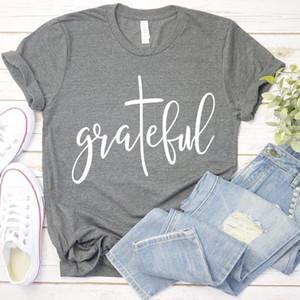 Grateful Christian T-shirt Faith Hope Love Tshirt Jesus Thankful Blessed Women Shirts Cotton Casual Girl Tumblr Tops Drop Ship1