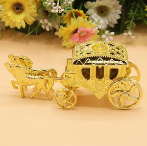 Ücretsiz Kargo 100 adet Külkedisi Arabası Düğün Favor Kutuları Şeker Kutusu Casamento Düğün Şekeri ve Hediyeler Olay Parti Malzemeleri SN1672