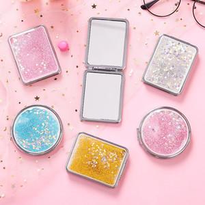 Yeni Gümüş Cep İnce Kompakt Ayna Blank Yuvarlak Metal Makyaj Ayna DIY Costmetic Ayna Düğün Hediye