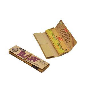 Clásico nativo imitación Raw papel de tabaco del cigarrillo que fuman cigarrillos Rolling Paper Rollo Papeles 110mm 32pcs / set