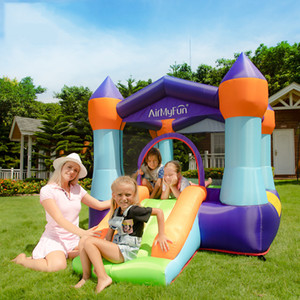 Homeuse Small Inflatable Bounce House with Slide for Kids Indoor Outdoor Play Personal Use Bouncer Backyard Garden Fun for Children