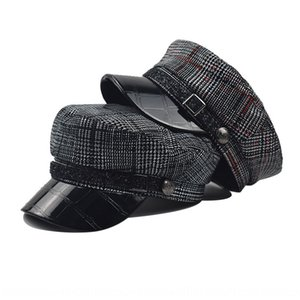 2020Lace and beret beret hatOctagonal winter hatleather octagonal hat crocodile leathercap autumn pu all-match outdoor wig cap H94Kv