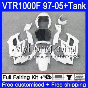 Body +Tank For HONDA SuperHawk VTR1000F 97 98 Black white 99 00 01 05 56HM.40 VTR1000 F VTR 1000 F 1000F 1997 1998 1999 2000 2001 Fairings