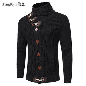 XingDeng turtleneck clothing wool shirt men Autumn coat knitwear fashion turtleneck Casual Pullover Long Sleeve Shirt