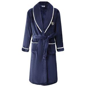 Automne / Hiver hommes Chemise de nuit Kimono Peignoir robe molleton Négligée col en V Lingerie intime Solide Couleur Y200429 de nuit