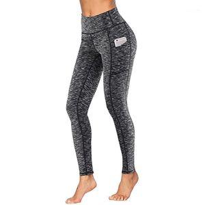 # H40 Женщины тренировки леггинсы с карманными леггинсами спортивные женщины фитнес бегущий высокие талии бодибилдинг брюки leggins1