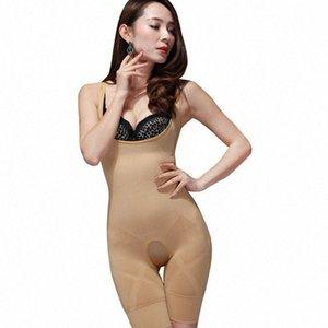 Großhandels-Neue Frauen-Dame-Bambuskohle Mikro-Faser-Former Voll Korsett-Bauch-Trimmer-Körper-Klage-Unterwäsche Shapewear Q1110 sNzL #