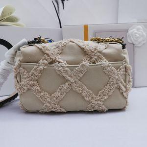 Spring new style women's chain bag vintage canvas fabric lace single shoulder bag classic diamond latticed handbag
