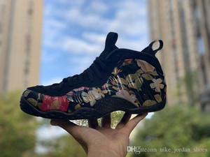 2019 Floral Penny hardaway Men Outdoor Shoes Black Multi Color Foam One sports sneakers release on Valentine's Day size 8-12 with box