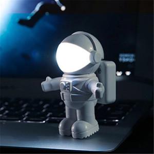 유연한 USB 흰색 우주 비행사 튜브 휴대용 LED 야간 조명 DC 5V 전구 컴퓨터 노트북 PC 노트북 읽기 홈 장식